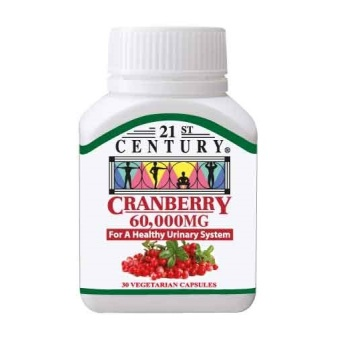 Harga 21st Century Cranberry Extract 60,000mg per capsule, for urinary health