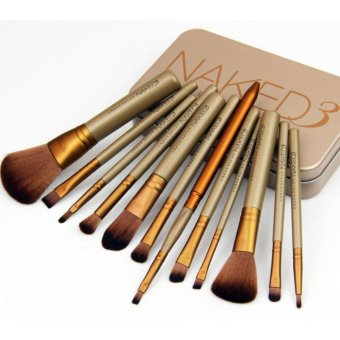 Harga Catwalk NK3 12 makeup brush gold tin box NK4NK5 7 makeup brush professional make-up make-up tool set - intl