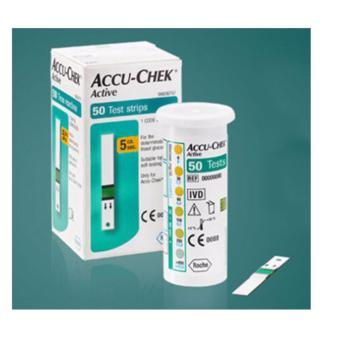 Harga Accu-Chek® Active Test Strips 50 Sheets Roche Accu Chek Active Test Strips / Roche Accu Check - intl