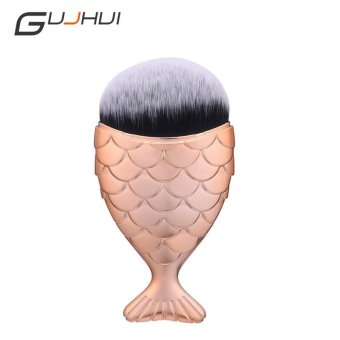 Harga 1piece Hot Selling Mermaid Makeup Blush Foundation Brush Rose Gold - intl