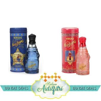 Harga Versace Blue Jean EDT Men (75ml) & Versace Red Jean EDT Lady (75ml)
