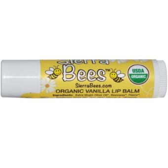 Harga Sierra Bees, Organic Creme Brulee Beeswax Lip Balm, pack of 1