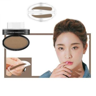 Harga Eyebrow Powder Eye Brow Stamp Palette Delicated Shadow Definition Making Makeup - intl