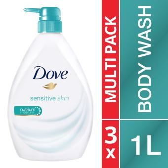 Harga 3 x Dove Sensitive Skin Nourishing Body Wash 1L