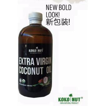 Kokonut Extra Virgin Coconut Oil 500ml 100% Natural product First Cold-pressed unrefined USDA Organic
