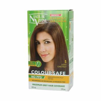 Harga Naturvital Colour Safe Hairdye Light Chestnut 150ml