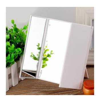 Harga Foldable 8 LED Light Illuminated Make Up Cosmetic Tabletop Beauty Vanity Mirror-White
