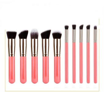 Harga Rorychen 5 Large 5 Small 10 Makeup Brush Set SGM with The Beauty Tools - intl