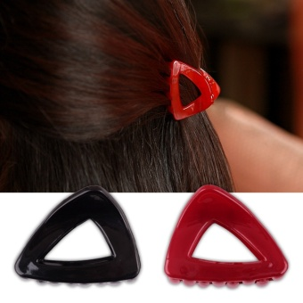 Harga Rorychen Women's Simple Fashion Hair Clip Large Plastic Triangle Hairpin - intl