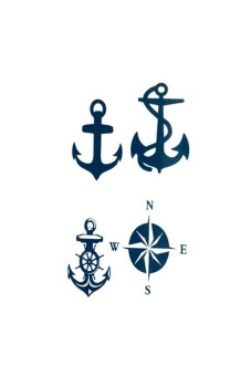 Moona Anchor Tattoo stickers