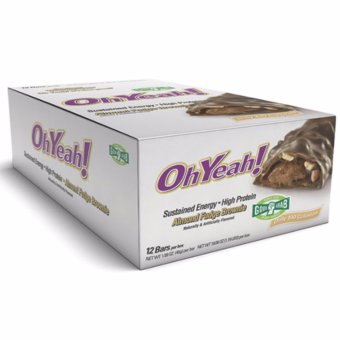 Harga Oh yeah Good Grab Bars (12 Bars Per Box) - Almond Fudge Brownie