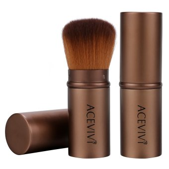 Harga WONDERSHOP Acevivi Retractable Kabuki Brush Concealer Foundation Blush Face Powder Bronzer Makeup Brushes ( Coffee ) - intl