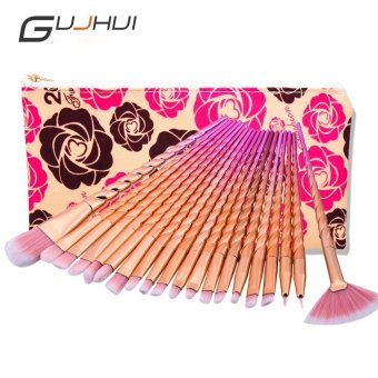 20pcs/set Makeup Brush Tools Golden Rose/ Pink Makeup Brushes Set of Eyeliner Powder Foundation Brush of the Shadow - intl
