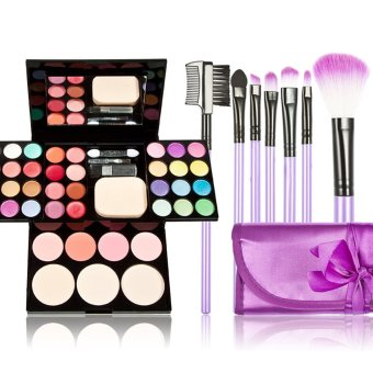 Harga Make Up Palette + 7 Pieces Makeup Brush