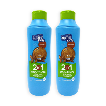 Harga Suave Kids Coconut 2-in-1 Smoothers Shampoo and Conditioner 665ml Set of 2 - 6551