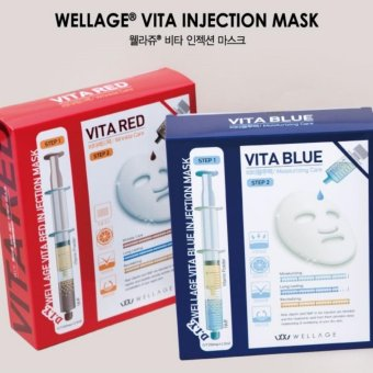 Harga (Wellage) Vita Blue Injection Mask (5 Pieces)