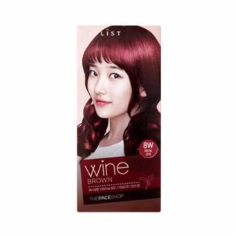 Harga THE FACE SHOP Stylist Silky Hair Color Cream - #8W Wine Brown