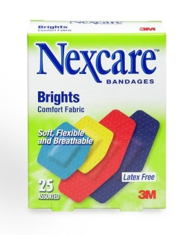 Harga 3M™ Nexcare™ Comfort Brights Fabric Bandages - Assorted 25s