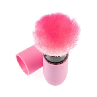 Harga Soft Retractable Kabuki Blush Foundation Loose Powder Makeup Brush Purple (Intl)
