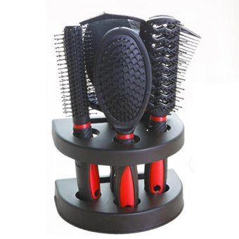 Harga LT365 5Pcs Salon Hair Styling Mirror Comb Hairdresser Set - intl