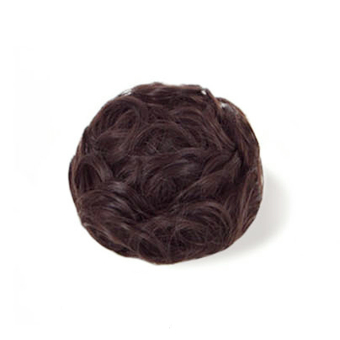 Synthetic Hair Donut Messy Hair Bun Extension Chignon Hairpiece Wig Dark brown