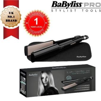 Harga BABYLISS 2179U Sleek Control 235 Hair Straightener with Advanced Nano Ceramic 45mm wide plates