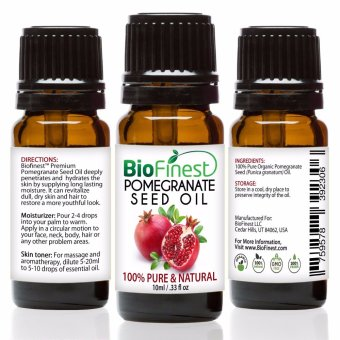 Biofinest Pomegranate Seed Organic Oil (100% Pure Organic Carrier Oil) 10ml