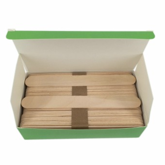 Harga 100pcs Wooden Wax Stick Waxing Spatulas Slender Applicator also for Face Mask Stick and Handcraft Art Design - Intl