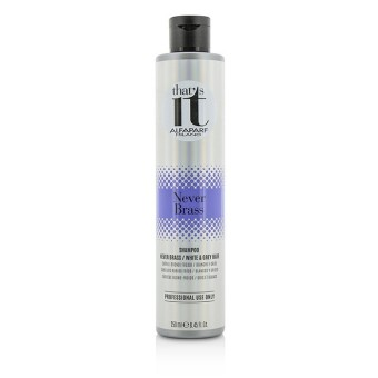 AlfaParf Thats It Never Brass Shampoo (For Cool Blondes / White & Grey Hair) 250ml/8.45oz - Intl