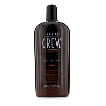 Harga American Crew Men Classic 3-IN-1 Shampoo, Conditioner & Body Wash 1000ml/33.8oz