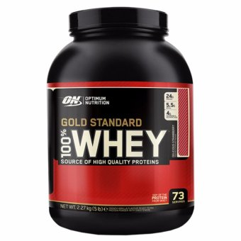 Harga Optimum Nutrition Gold Standard 100% Whey (5Lbs) - Delicious Strawberry