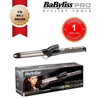 Harga Babyliss C525e Ipro Curler With 25mm Perfect Medium Curls With Titanium Ceramic Coating