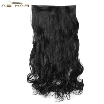 Harga AISI HAIR Fashion Long Curly Synthetic 5 Clips in Wig Extensions - intl