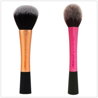 Harga Real Techniques Powder Brush +Blush Brush Cosmetics Tools Combination Sales - intl