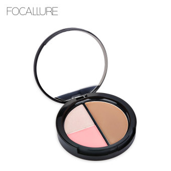 Harga FOCALLURE Professional Multifunctional Color Bronzing Powder with Blush Bronzer #3 - intl
