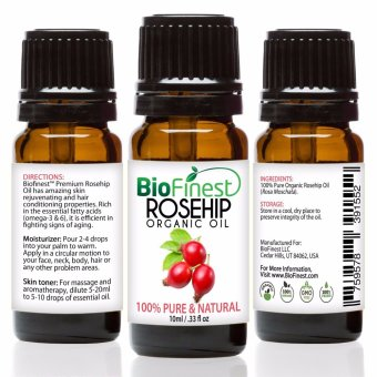 Biofinest Rosehip Organic Oil (100% Pure Organic Carrier Oil) 10ml