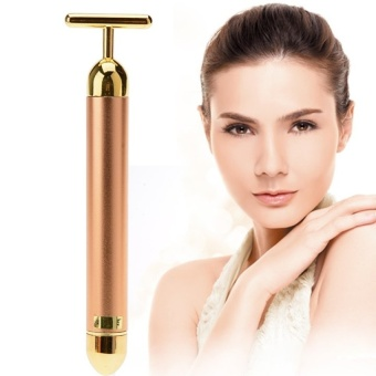 Harga Electric Instrument Wrinkles Tool Skin Care Facial Gold Face-liftEnergy Face Massager Bar - intl