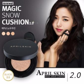 Harga April Skin Magic Snow Cushion 2.0 Ver Black #21 Light Beige