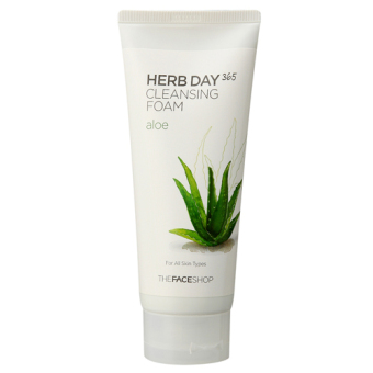 Harga The Face Shop - Herb Day 365 Aloe Cleansing Foam 170ml