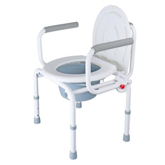 Harga Adult Folding Adjustable Shower Seat Toilet potty safe - intl