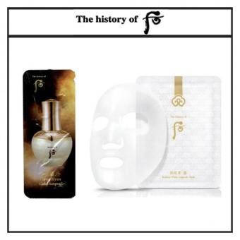Harga The History of Whoo Cheongidan Hwa Hyun Gold Ampoule 1ml x 30pcs(Free sample) + The History of Whoo Gongjinhyang Seol Radiant White Ampoule Mask 25g