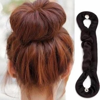 Harga Cloth Wrapped Hair Donut Bun Clip Hair Twist Holder DIY Hair Styling - intl