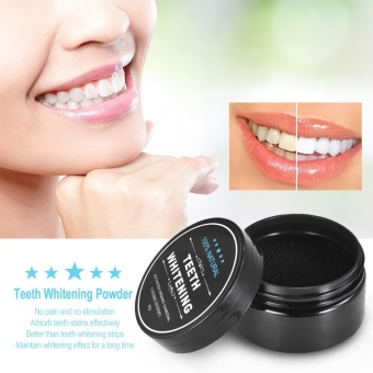 Harga Teeth Whitening Powder Oral Activated Charcoal Teeth Stain Remover Powder Toothpaste Whitener Black - intl