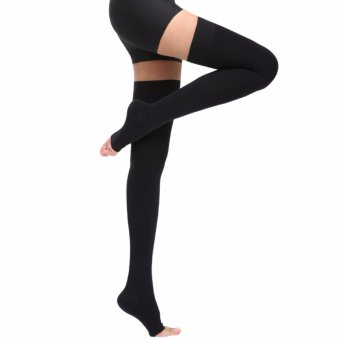 Medical Open Toe Over Knee Thigh Compression Stocking - intl