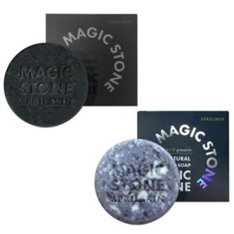 Harga April Skin Magic Stone Original + April Skin Magic Stone Black - 100g x 2