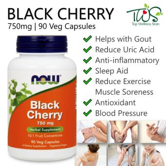 Harga Now Foods, Black Cherry Fruit Concentrate 750mg, 90 Veggie Caps