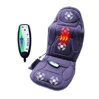 Harga Massage Chair Seat Massager Heat Vibrate Cushion Back Neck Massage Chair Car Pain Massage Relaxation massageador - intl