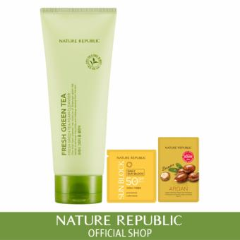 Harga Nature Republic Fresh Green Tea Foam Cleanser