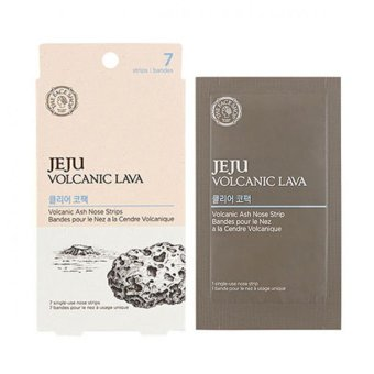 Harga The face shop Jeju Volcanic Lava Clear Nose Pack 7pcs(Export).