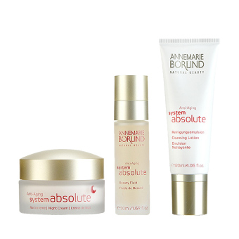 Annemarie Borlind Anti-Aging Beauty Fluid + Anti-Aging Cleansing Lotion + Anti-Aging Night Cream - Intl